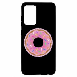 Чохол для Samsung A52 5G Pink donut on a background of patterns