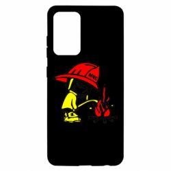 Чехол для Samsung A52 5G Писающий хулиган-пожарный