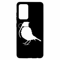 Чехол для Samsung A52 5G Птичка с гранатой