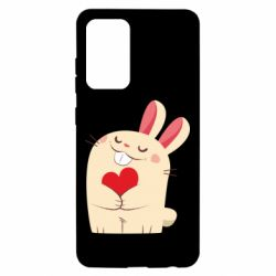 Чехол для Samsung A52 5G Rabbit with heart