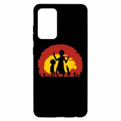 Чохол для Samsung A52 5G Silhouette of Rick and Morty at Sunset