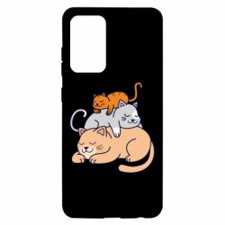 Чехол для Samsung A52 5G Sleeping cats