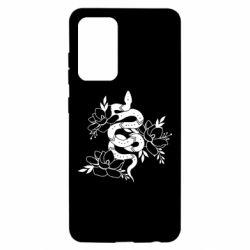 Чохол для Samsung A52 5G Snake with flowers