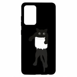 Чехол для Samsung A52 5G The cat tore the pocket