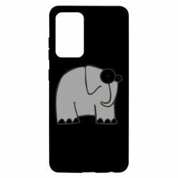 Чехол для Samsung A52 5G удивленный слон