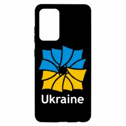 Чохол для Samsung A52 5G Ukraine квадратний прапор