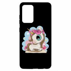 Чохол для Samsung A52 5G Unicorn with flowers