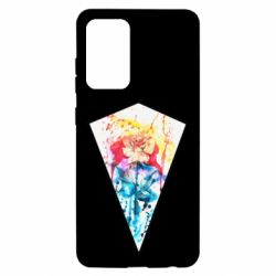 Чехол для Samsung A52 5G Watercolor flower in a geometric frame