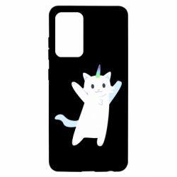 Чохол для Samsung A52 5G White cheerful cat