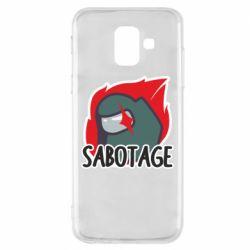 Чохол для Samsung A6 2018 Among Us Sabotage