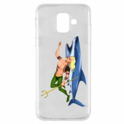 Чехол для Samsung A6 2018 Aquaman with a shark
