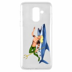 Чехол для Samsung A6+ 2018 Aquaman with a shark