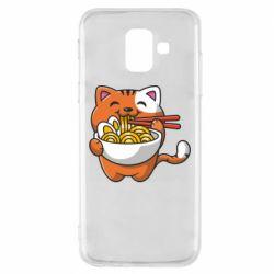 Чохол для Samsung A6 2018 Cat and Ramen