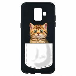 Чехол для Samsung A6 2018 Cat in your pocket