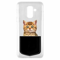 Чехол для Samsung A6+ 2018 Cat in your pocket