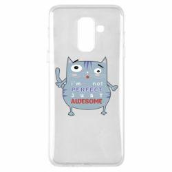 Чехол для Samsung A6+ 2018 Cute cat and text