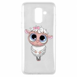Чехол для Samsung A6+ 2018 Cute lamb with big eyes