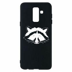Чохол для Samsung A6+ 2018 Cute raccoon face