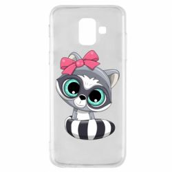 Чехол для Samsung A6 2018 Cute raccoon