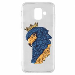 Чехол для Samsung A6 2018 Eagle with a crown on its head