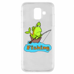 Чехол для Samsung A6 2018 Fish Fishing