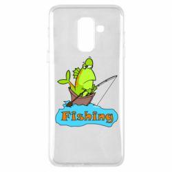 Чехол для Samsung A6+ 2018 Fish Fishing