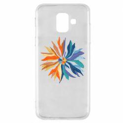 Чохол для Samsung A6 2018 Flower coat of arms of Ukraine