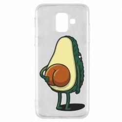 Чохол для Samsung A6 2018 Funny avocado