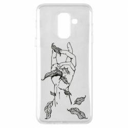 Чохол для Samsung A6+ 2018 Hand with leafs