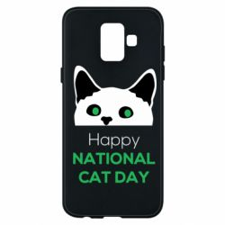 Чехол для Samsung A6 2018 Happy National Cat Day