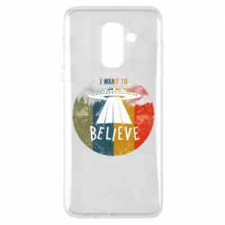 Чехол для Samsung A6+ 2018 I want to believe text