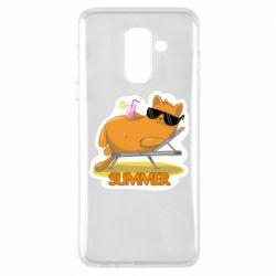Чохол для Samsung A6+ 2018 Котик на пляжі