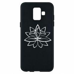 Чохол для Samsung A6 2018 Lotus yoga