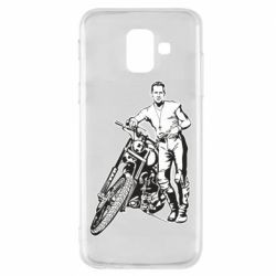 Чехол для Samsung A6 2018 Mickey Rourke and the motorcycle
