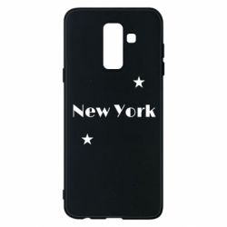 Чехол для Samsung A6+ 2018 New York and stars