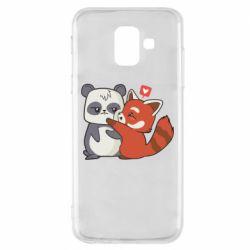 Чохол для Samsung A6 2018 Panda and fire panda