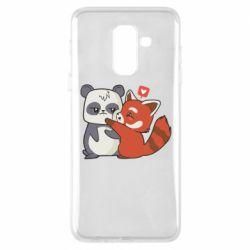 Чохол для Samsung A6+ 2018 Panda and fire panda