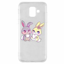 Чохол для Samsung A6 2018 Rabbits In Love