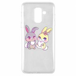 Чохол для Samsung A6+ 2018 Rabbits In Love