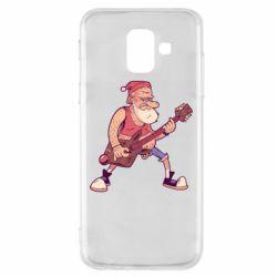 Чохол для Samsung A6 2018 Rock'n'roll Santa