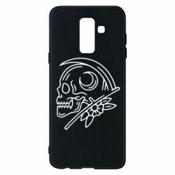 Чохол для Samsung A6+ 2018 Skull with scythe