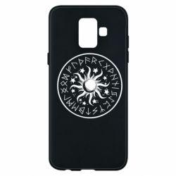 Чохол для Samsung A6 2018 Sun in runes