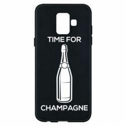 Чохол для Samsung A6 2018 Time for champagne
