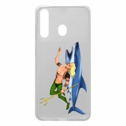 Чехол для Samsung A60 Aquaman with a shark