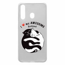 Чехол для Samsung A60 Cats and love