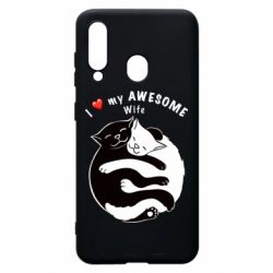 Чехол для Samsung A60 Cats with a smile
