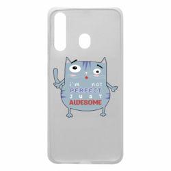 Чехол для Samsung A60 Cute cat and text