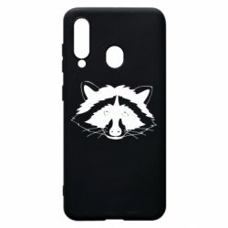 Чохол для Samsung A60 Cute raccoon face