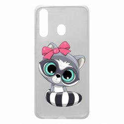 Чехол для Samsung A60 Cute raccoon