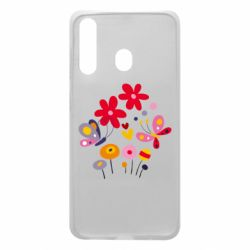 Чехол для Samsung A60 Flowers and Butterflies